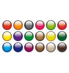 Color circle buttons vector image