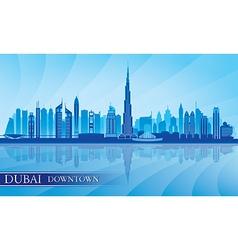 Dubai Downtown City skyline silhouette background vector image vector image