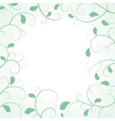 Floral Frame with Leaf vector image