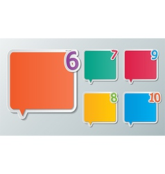 infographic speech bubbles vector image vector image