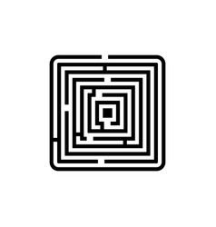 labyrinth icon vector image