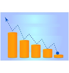 Money grow chart vector image vector image