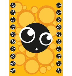 Scared cute monster frame of monsters vector image vector image