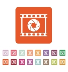 The camera icon Photo and diaphragm photographer vector image