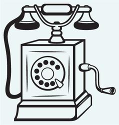 Vintage old telephone vector image