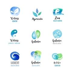 Alternative medicine and wellness yoga concept vector image