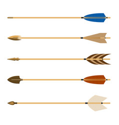 archery arrows set isolated on vector image