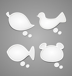 Bubble for speech Nature set vector image vector image