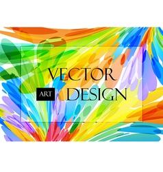 Multicolored background brush strokes vector image