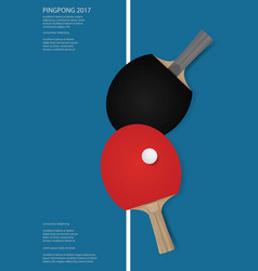 pingpong poster vector image