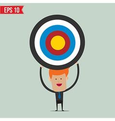 Business man showing target - - EPS10 vector image