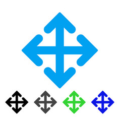Direction variants flat icon vector
