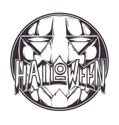 Halloween Pumpkin Badge vector image