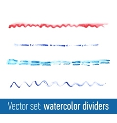 Hand drawn watercolor dividers for your design vector image vector image