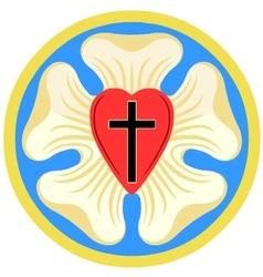 Luther Rose Emblem vector image