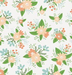 Vintage floral compositions seamless pattern vector image vector image