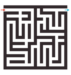 maze on white background labyrinth puzzle vector image