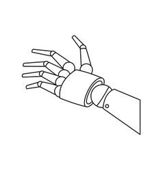 mechanical robotic hand innovation technology vector image