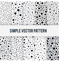 set of ten seamless simple chaotic forms of vector image