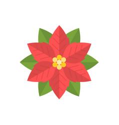 simple poinsettia icon flat design vector image vector image