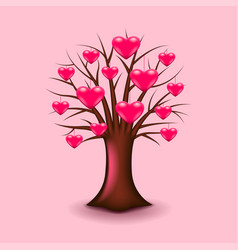 tree with hearts isolated vector image