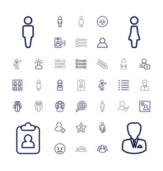 37 user icons vector