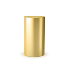 3d gold cylinder design scene stage template vector