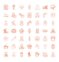 49 worker icons vector image