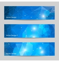 A set of banners with polygonal background vector image