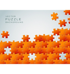 Abstract background made from orange puzzle pieces vector