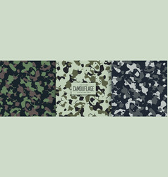 Abstract military camouflage pattern texture vector