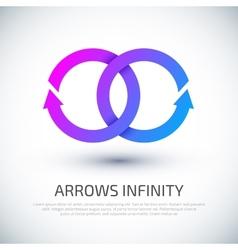 Arrow infinity business logo vector image