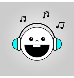 Baby listening to music vector
