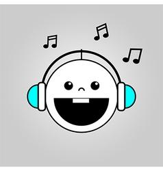 Balistening to music vector