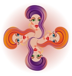 beauty salon beautiful face of a young girl vector image