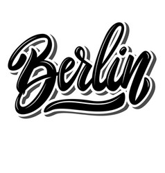 berlin capital germany lettering phrase on vector image