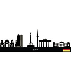 Berlin text flag city skyline vector