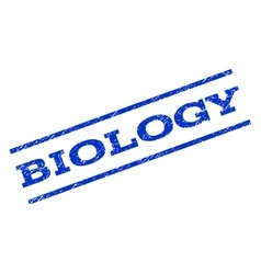 Biology Watermark Stamp vector image
