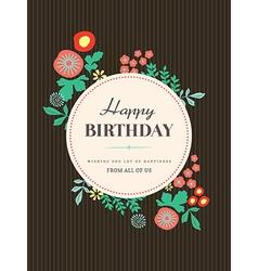 Birthday card design Flower vector