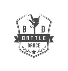 break dance battle logotype vector image