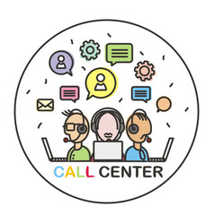 Call center 01 vector