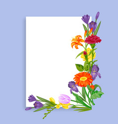 card flowers for spring sale decoration colorful vector image
