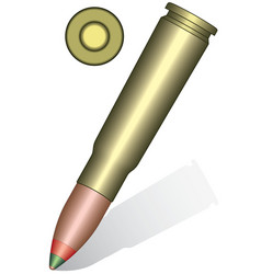 Cartridge vector image
