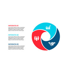 circle element for infographic with 3 options vector image