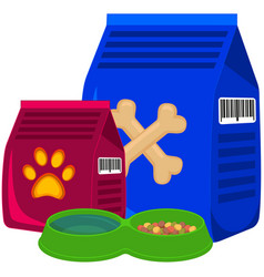 Colorful cartoon pet food poster vector