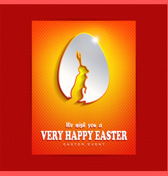 Composition of an orange hue with the easter egg vector