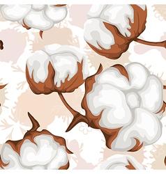 Cotton buds branch Seamless pattern vector
