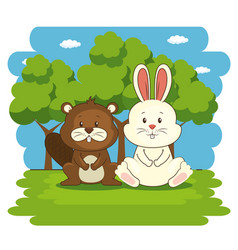 Cute adorable animal cartoon vector