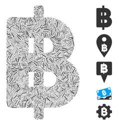 Dash collage thai baht icon vector