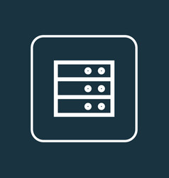 datacenter outline symbol premium quality vector image